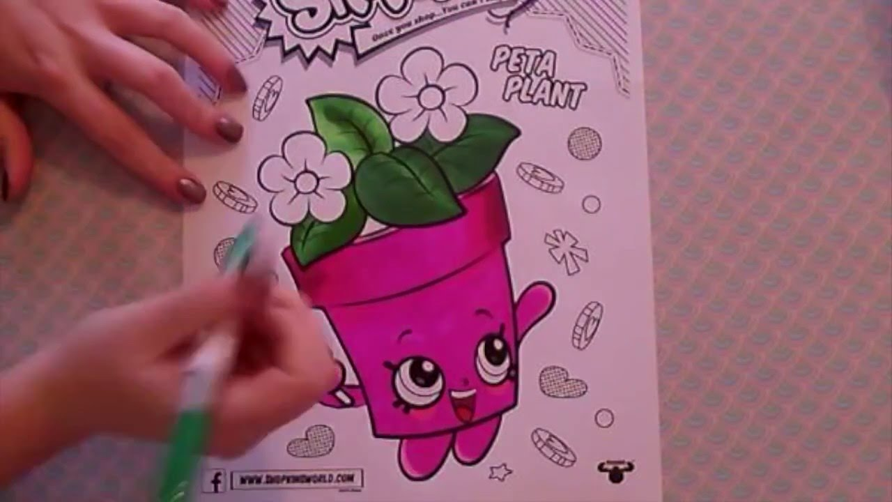 Coloring Peta Plant From Shopkins Book Pages Fun With ColorCraze