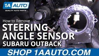 How to Remove Steering Angle Sensor 10-14 Subaru Outback