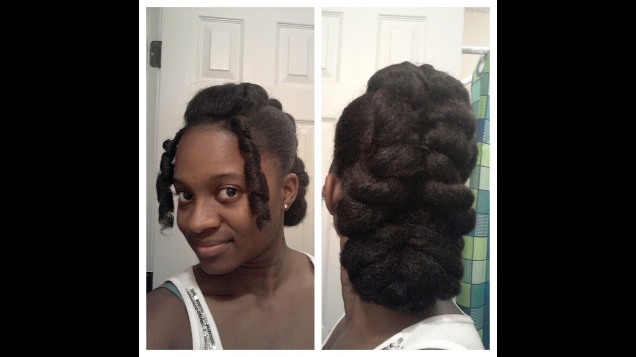 Elegant Updo On Natural Hair