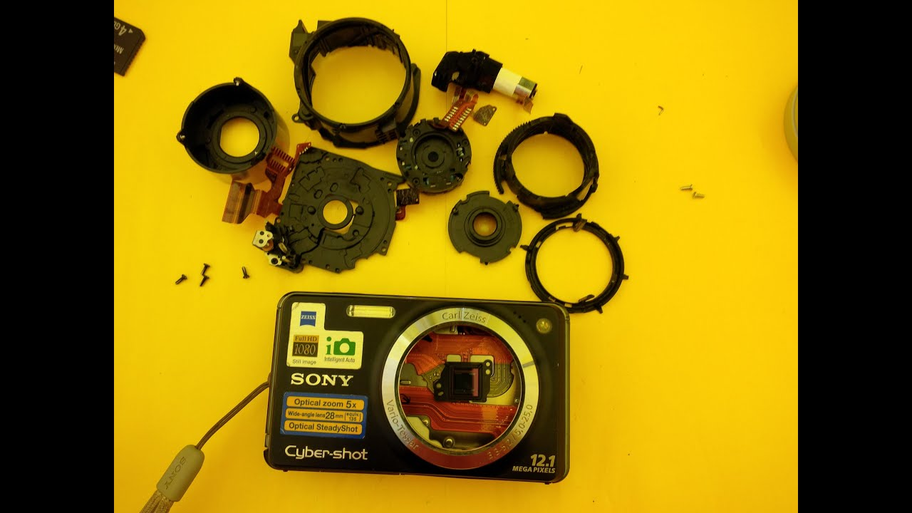 SONY DSC-W270 disassembly and lens repair