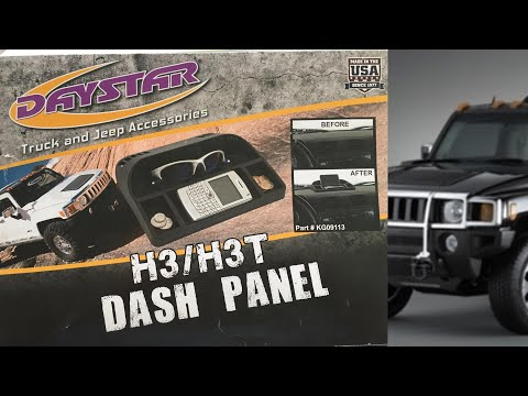 How to install a Daystar Upper Dash Panel Hummer H3