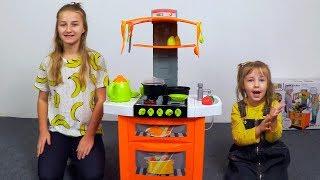 Игрушечная кухня с водой посудой и приборами для девочек Распаковка и Обзор для детей Toys for girls