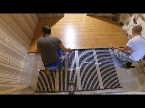 Как стелить теплый пол под ламинат видео