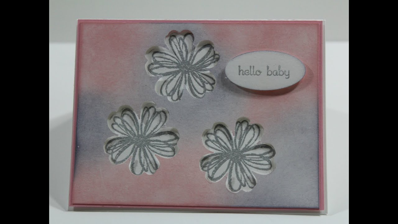 baby shower card how to make this baby shower card feat stampin