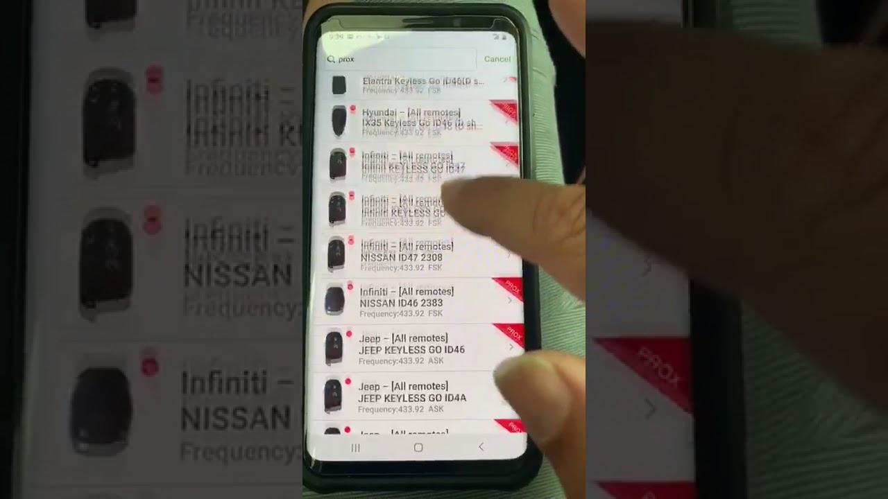 smart keys updated on mini key tool Android