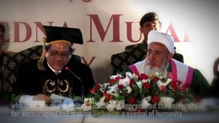 Governor Sindh conferred the Doctorate of Letters (Honoris Causa) degree on Syedna Burhanuddin.