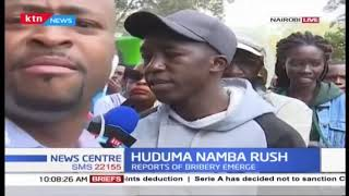 Huduma Namba Rush in Nairobi, as mass registration set to end on Saturday