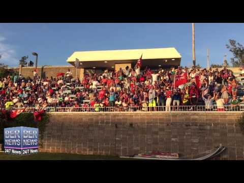 Spectators Cheer On Bermuda Football Team, June 15 2015
