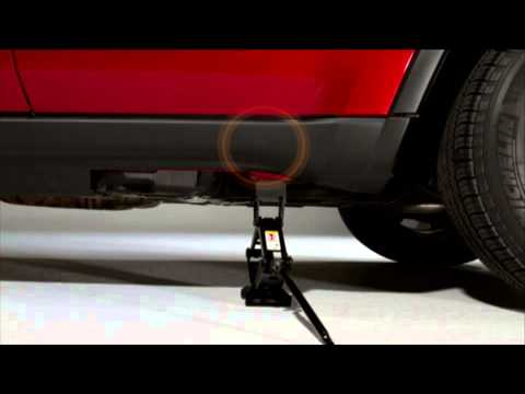 2013 Jeep Grand Cherokee Jacking And Tire Changing Youtube