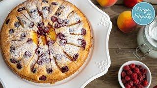 Йогуртовый Пирог с Персиками и Малиной | Peach & Raspberry Yogurt Cake | Tanya Shpilko