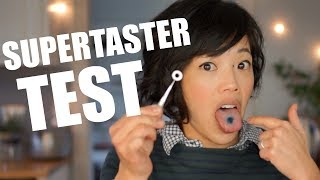 Emmy Takes the SUPERTASTER Test - counting tastebuds