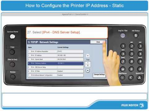 How To Configure a Static IP Address - ApeosPort-V & DocuCentre-V Products - English