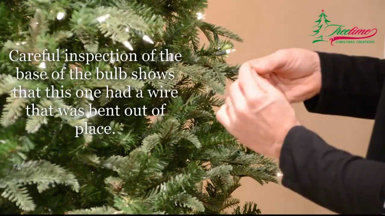 How to fix Christmas lights & lighting on prelit Christmas trees ...