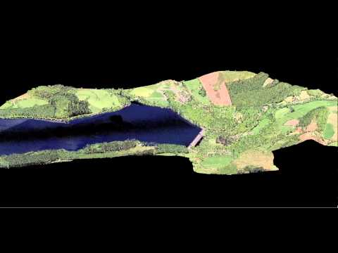 Visualisation of Airborne LiDAR data over Lake Vyrnwy, Mid-Wales, UK