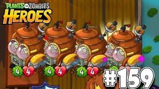 🔴 Plants vs Zombies Heroes Walkthrough 159 - Disco-Tron 3000 Makes 3 Disco-Tron 3000