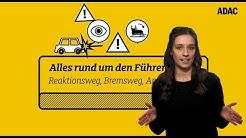 Reaktionsweg, Bremsweg, Anhalteweg: Formeln für die Führerschein-Prüfung | ADAC