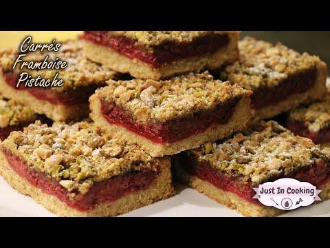 recette-des-carrés-framboise-pistache
