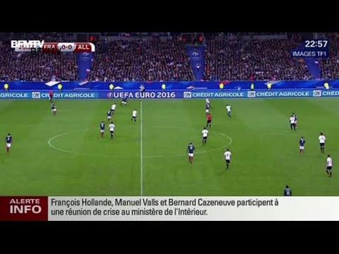 Explosions heard outside Stade de France