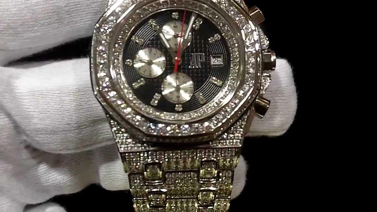 Rick Ross Custom Sim Diamond Audemars Piaget Jay Z Watch Iced Out