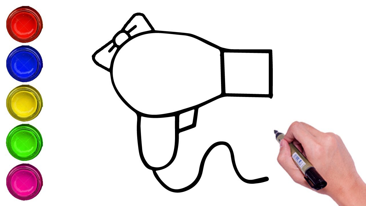 How To Draw Hair Dryer How To Draw Shower How To Draw Toilet Paper Roll Youtube