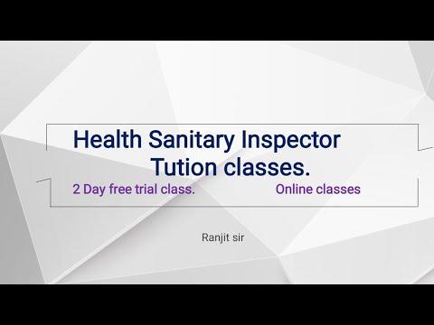 Health Sanitary Inspector Tution Classes