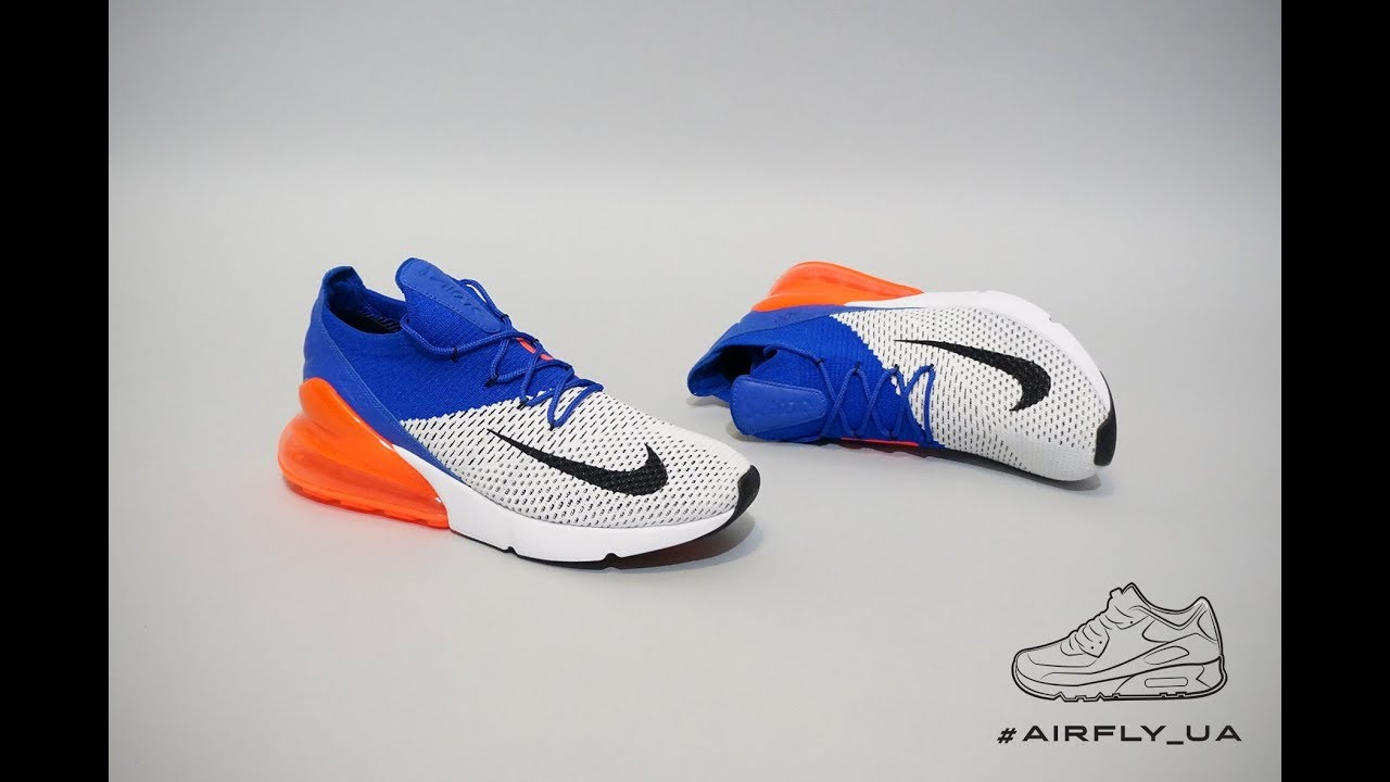 on sale 1ccdd e66de Nike Air Max 270 Flyknit White Racer Blue