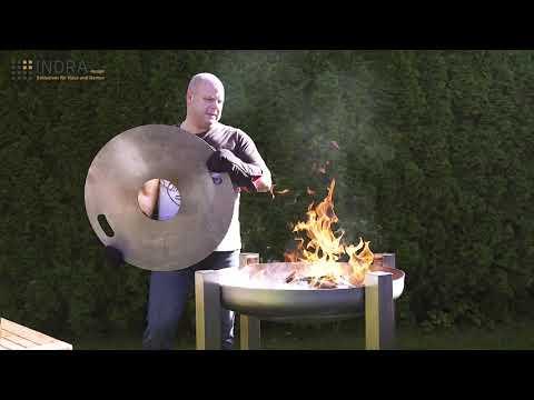 Becker Design 6mm Feuerplatte Grillplatte f/ür 57 cm Kugelgrill Plancha Branding Grillrost