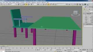 3d max tutorial I how to create basic table and chair