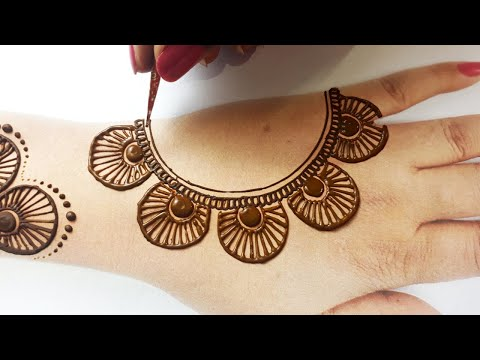 आसान शेडेड मेहँदी डिज़ाइन-Easy Arabic Wedding Mehndi Design 2020- Backhand Mehndi Trick from S letter