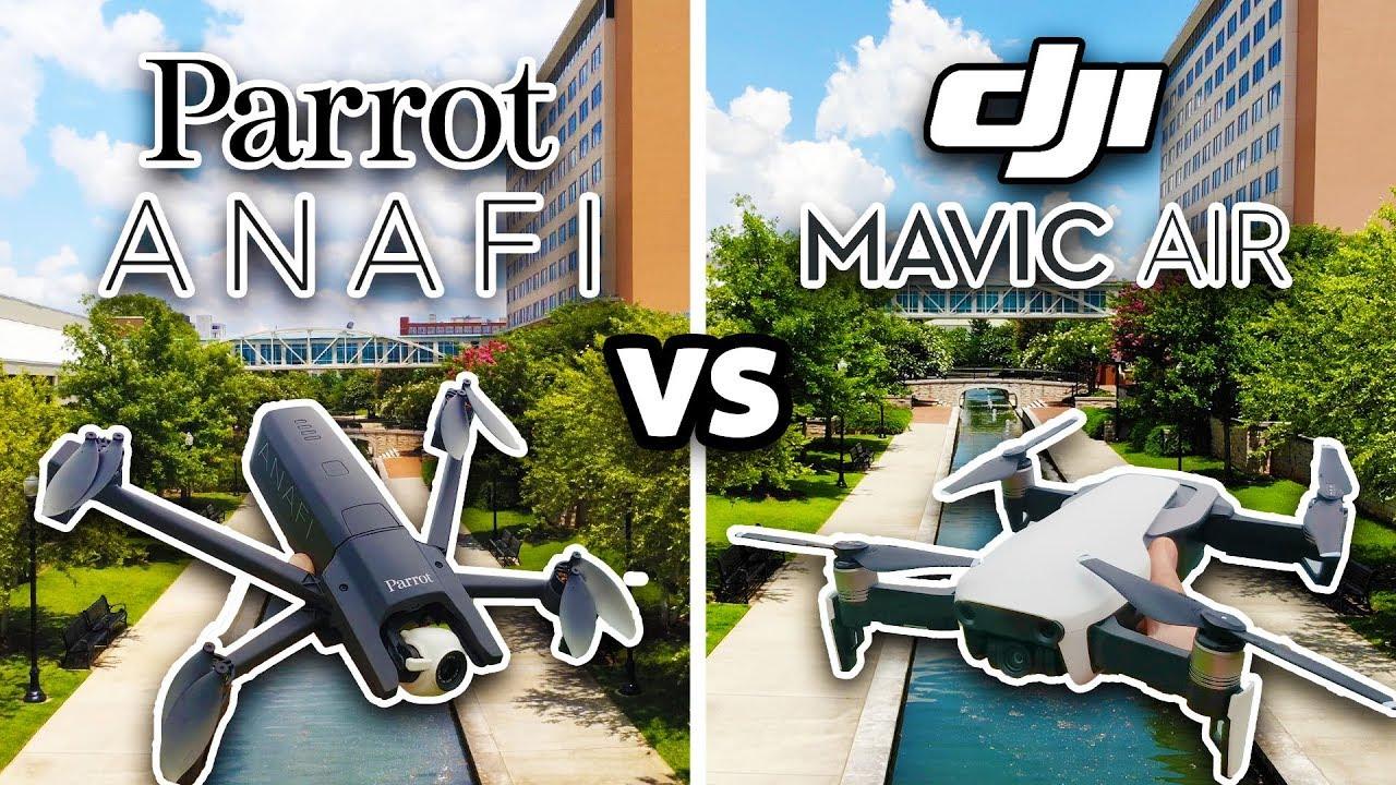 YouTuber AuthenTech compares Parrot ANAFI vs  DJI Mavic Air
