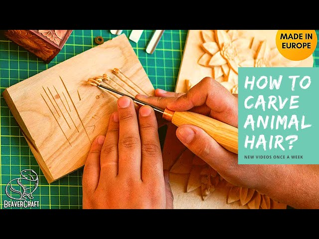 How to Carve Animal Hair? 🤔 Easy Wood Carving for Beginners I V-chisel K12/02