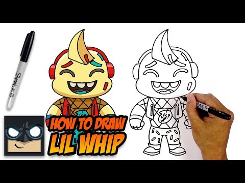 How To Draw Lil Whip   Fortnite (Step-by-Step Tutorial)