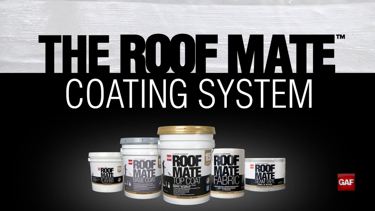 How To Install The Gaf Roof Mate Coatings System Youtube