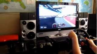Gran Turismo 5 with Driving Force steering wheel [HD]
