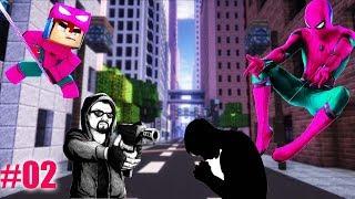 Minecraft: Who´s Your Hero #2 - O FILHO DO HOMEM ARANHA ROSA VIRA UM HERÓI (VINGADORES ULTIMATO)