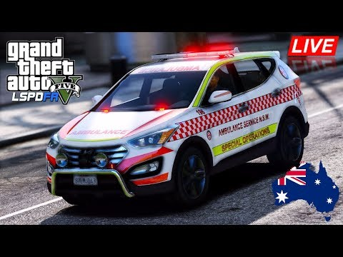 GTA 5 - Emergency 000 - ASNSW Special Operations Hyundai Santa Fe (Play GTA as a Paramedic mod)