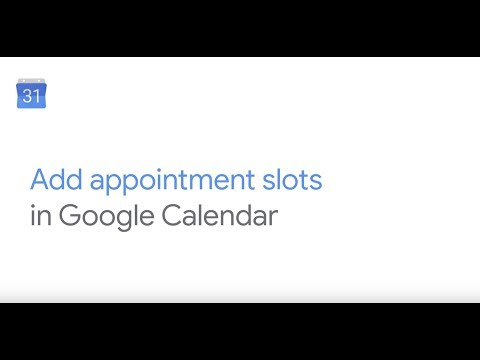 Add appointment slots in Google Calendar