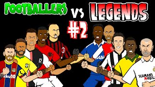 ⚽️#2 - FOOTBALLERS vs LEGENDS⚽️feat Pele Messi NeymarZidane & more!