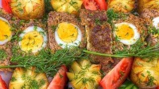 Готовим у Каси / Мясной рулет с яйцами / Бычий глаз