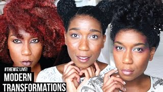 #TheWiz LIVE! 5 Modern Character Transformations | Natural Hair
