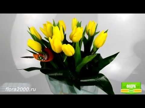 Тюльпаны на 8 марта заказать - Флора2000.ру. Букет из тюльпанов Порыв чувств