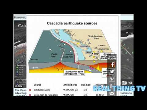 Cascadia Megathrust Faultline Is 1,000km Long From California To Canada