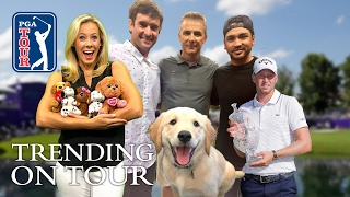 Berger makes it a double, players' pooches & Hugh Jackman's swing