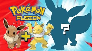 Hypno Eevee Pokemon Fusion |  How to draw Pokemon Fusion challenge