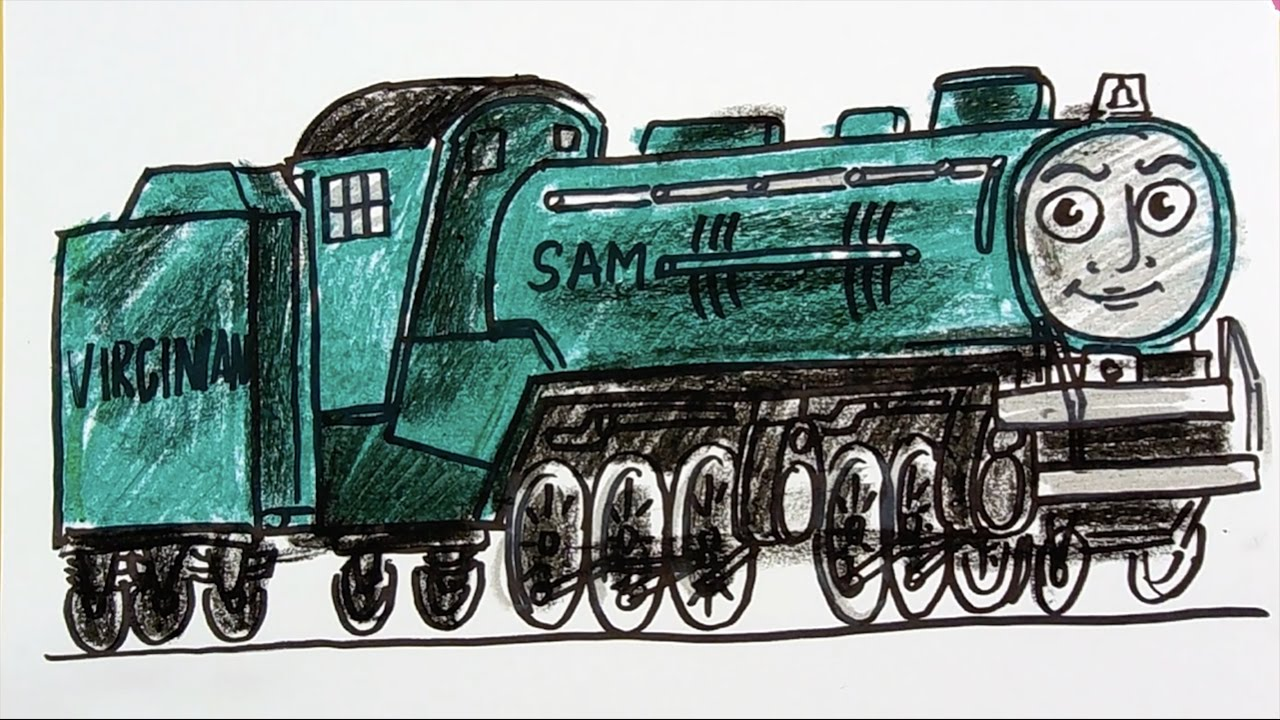 how to draw a sam