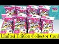Shopkins Limited Edition Season 4 Collector Cards Blind Bag Packs Opening Toy Review PSToyReviews