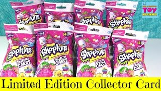 Shopkins Limited Edition Season 4 Collector Cards Blind Bag Packs Opening Toy Review | PSToyReviews