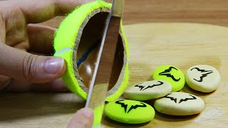 Stop Motion Cooking - Apple Pie From Sports Utensils ASMR