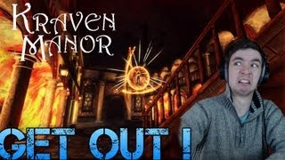 Kraven Manor - GET OUT ! - Part 2 Indie Horror Game - Gameplay/Commentary/Facecam reaction