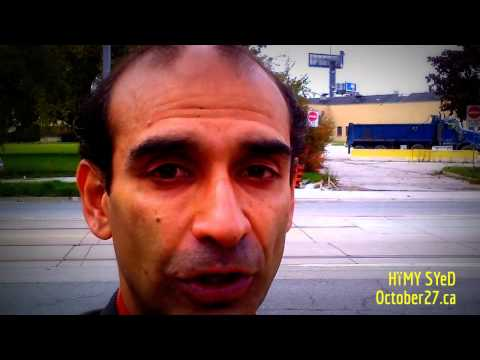 HiMY SYeD For Toronto | Mayoral Candidate 2014 | Deep Water Cooling Employment Lands | October27.ca